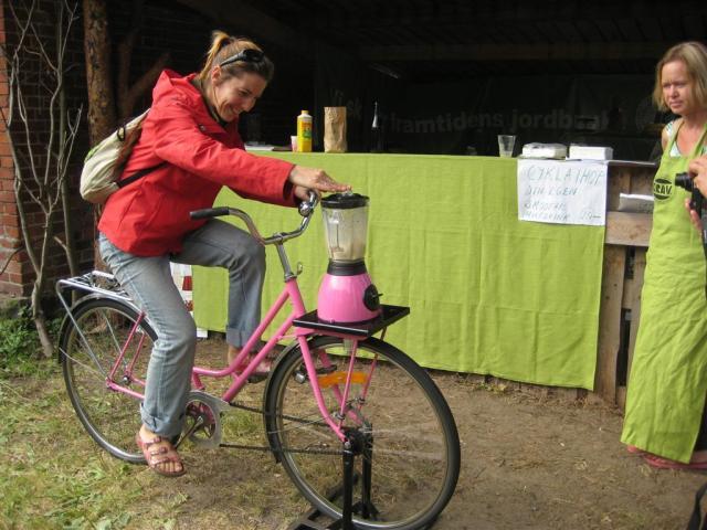 cykla ihop en smoothie